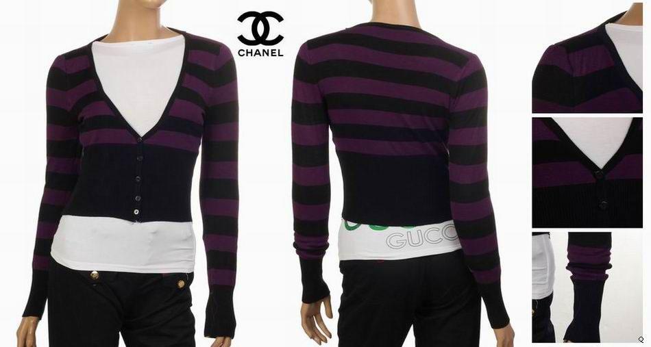 Pull Chanel Femme Col V Noir-4 - Pull Chanel Femme Col V Noir-4 pas cher 61b74afb3db