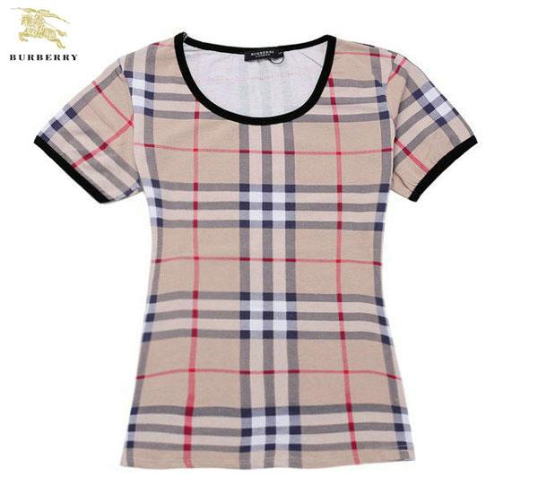 99f3b445076 T Shirt Burberry Femme Beige Col Rond-88 - T Shirt Burberry Femme ...