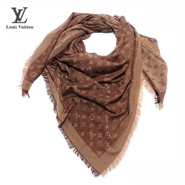 Foulard Louis Vuitton Tendance Marron-100 - Foulard Louis Vuitton ... 9dfe3be2e62