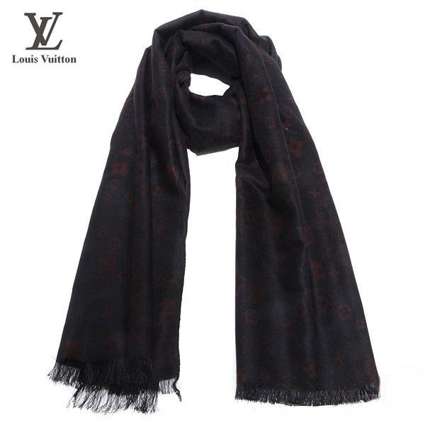Louis Vuitton Foulard Soldes Uni Noire-107 - Louis Vuitton Foulard ... 9a21bd15f29