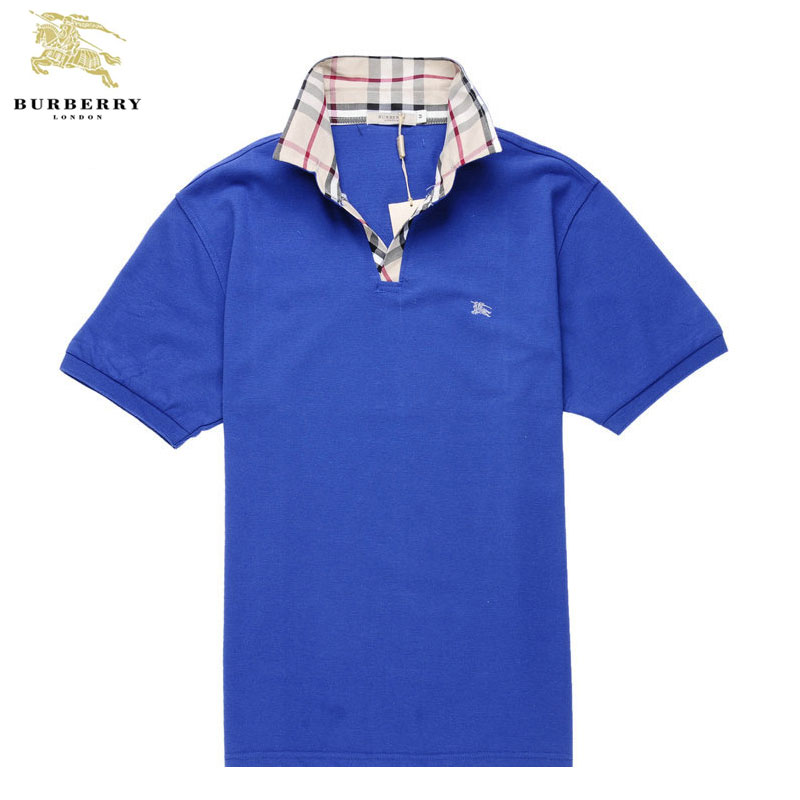 Burberry T Shirt Homme Polo Bleu Manches Courte-415 - Burberry T ... 20ff4d9f093