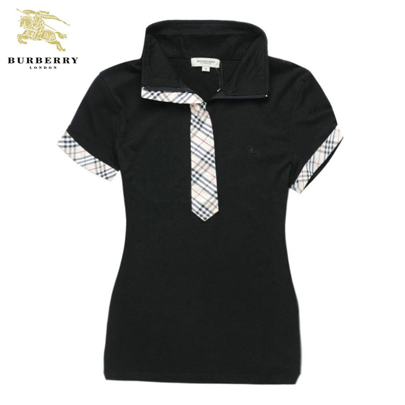 32a7403c31a T shirt Polo Burberry Femme Noir Manches Courte-161 - T shirt Polo ...