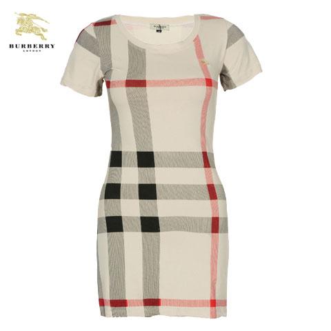 T Shirt Dress Burberry Femme Manches Courte Beige-132 - T Shirt ... 3c6202b05f7