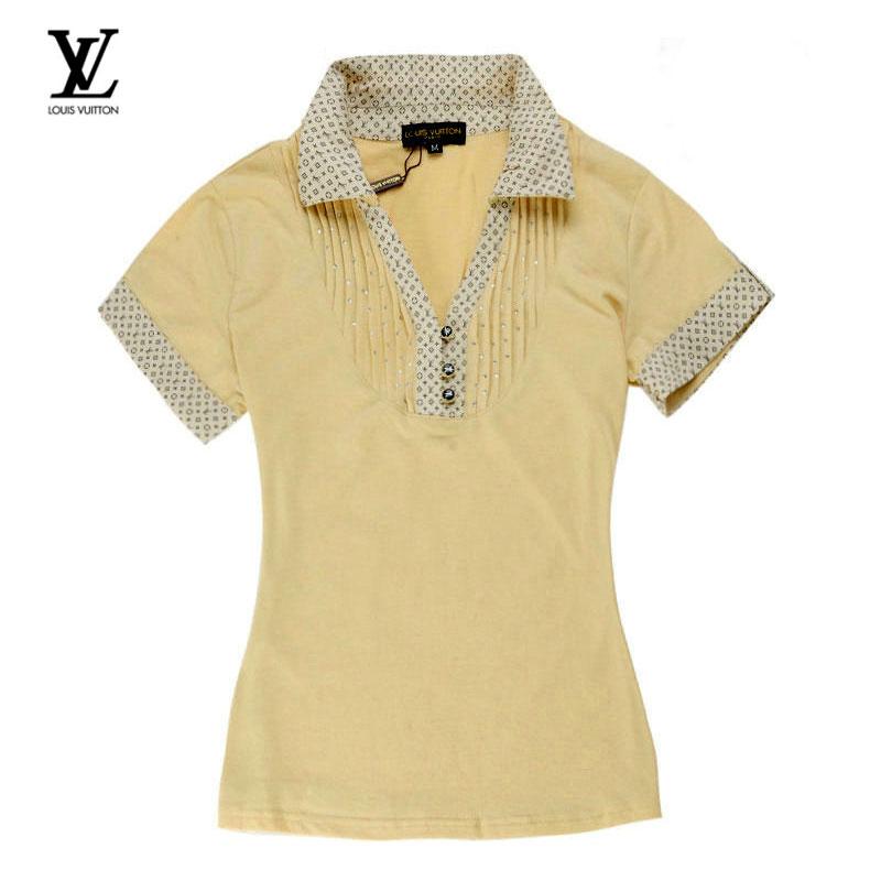 a73bd711d2ee Polo LV T Shirt Femme Jaune Manches Courte-36 - Polo LV T Shirt ...