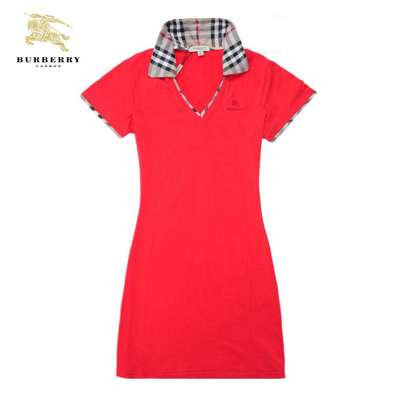 722c6e773fc Solde Burberry T Shirt Femme Rouge Manches Courte-187 - Solde ...