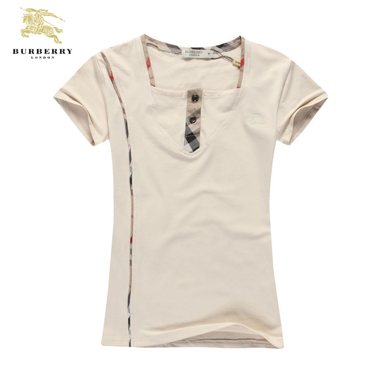 f17432f02e4 ... T Shirt Femme Burberry Beige Col Carre-197 · See Larger imageSee ...