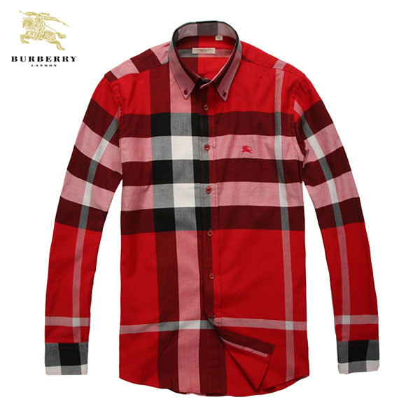 ... Chemise Burberry Homme Rouge et Blanc Manches Longue-186 · See Larger  imageSee ... e751290e36e