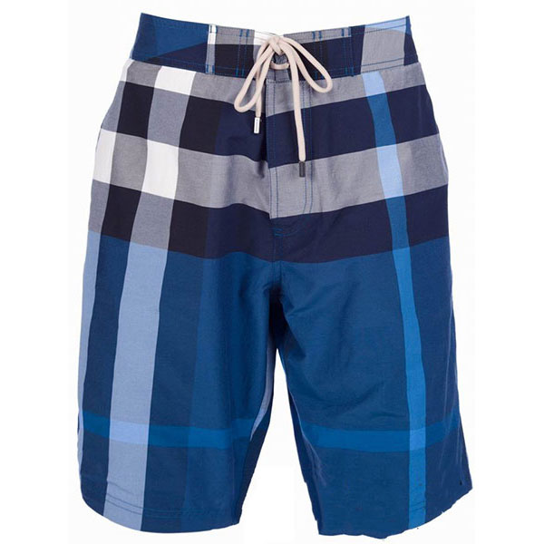 Pantalon Boss Short Homme Bleu et Blanc-4