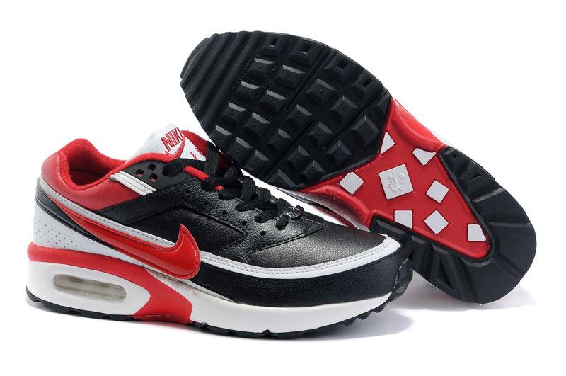 air max noir et rouge bw