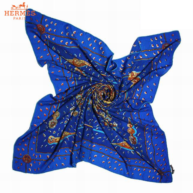 1cafb2059556 ... Écharpe en Cachemire Hermes Bleu Pas Cher-150. See Larger imageSee ...