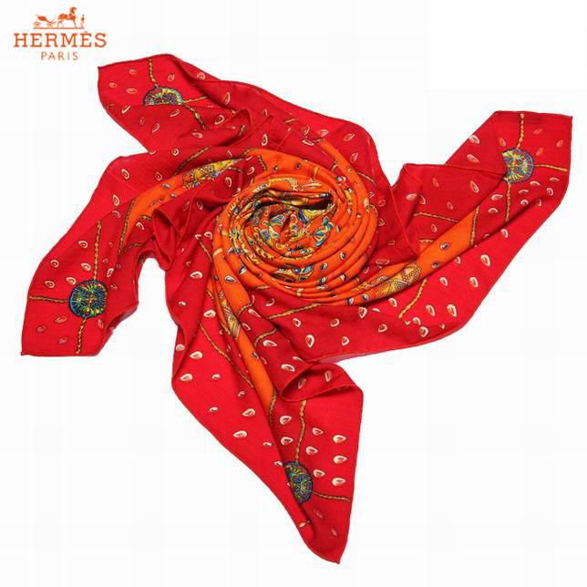 013556fb77e7 Hermes Cachemire Écharpe Rouge et Orange Foulards-152 - Hermes ...